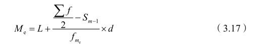 统计学中位数:分组数列的中位数
