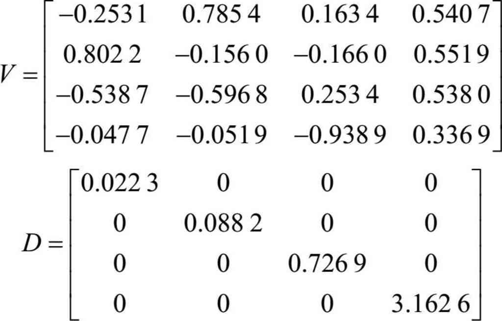 MATLAB实现主成分分析的例子例题