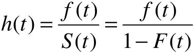生存、概率密度、危险率函数的关系