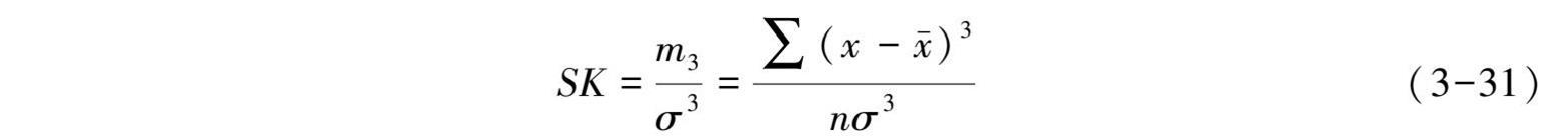 测定偏态的方法:由中心矩测定偏态